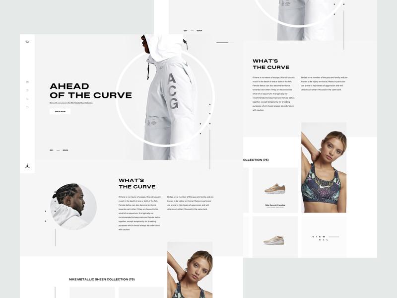 ZX Explorations - eCommerce shop UI Concept ui ux clean responsive minimal landing typography design marketing website header interface web design simple fresh product pallete page profile data