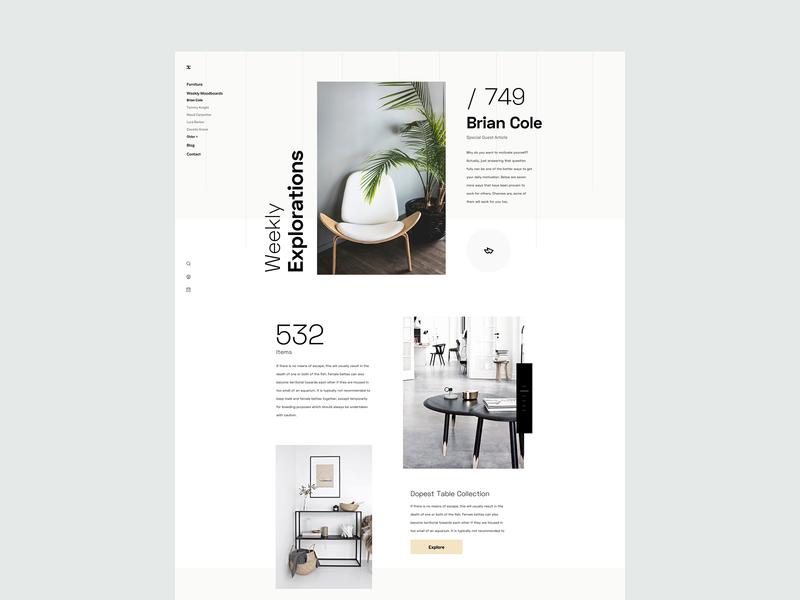 ZX Explorations - eCommerce shop UI Concept data profile page pallete product fresh simple web design interface header website marketing design typography landing minimal responsive clean ux ui