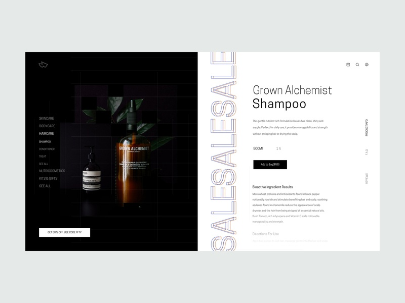 ZX Explorations - eCommerce Product Page UI Concept ui ux clean responsive minimal landing typography design marketing website header interface web design simple fresh product pallete page profile data