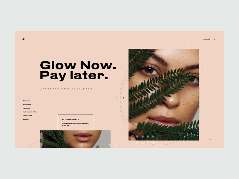 ZX Explorations - Beauty Store UI Concept data pallete product fresh simple web design interface header website marketing design typography landing minimal responsive clean ux ui travel design travel