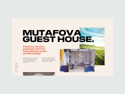MH - Guest House Landing Page typography booking guest house interface landing marketing website design responsive guesthouse guest ux ui