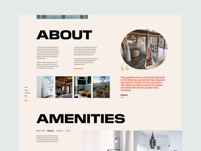 MH - Guest House Landing Page ui ux guest guesthouse responsive design website marketing landing interface guest house booking typography