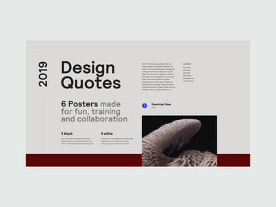 Design Quotes - Landing Page Concept Explorations