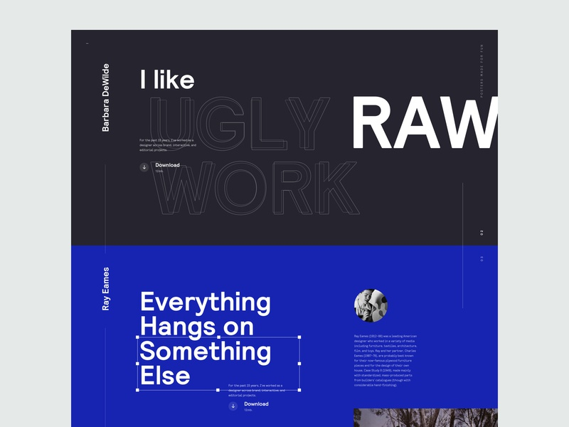 Design Quotes - Homepage Concept v3 type quotes home page homepage web design clean minimal typography interface landing marketing website design responsive ux ui