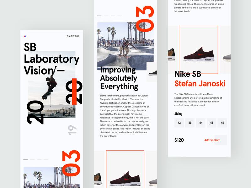 ZX Explorations - eCommerce shop Mobile Concept data profile page pallete product fresh simple web design interface header website marketing design typography landing minimal responsive clean ux ui