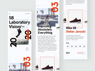 ZX Explorations - eCommerce shop Mobile Concept data profile page pallete product fresh simple web design interface header website marketing design typography landing minimal responsive clean ux ui