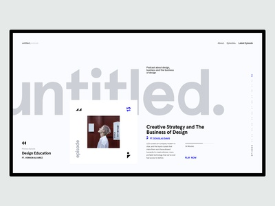 Untitled Podcast - Landing Page UI concept
