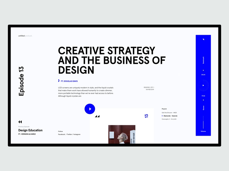 Untitled Podcast - Inner Page UI concept clean ecommerce web design landing pallete ui ux responsive marketing website product minimal podcast podcast cover interface design