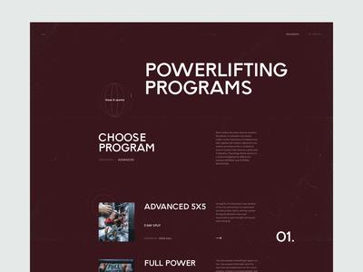 Fitness Program Web UI Exploration