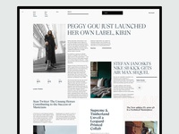 Magazine / Blog / News Site Landing Page Explorations