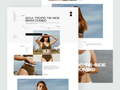 Product Page Explorations swim swimwear typogaphy interaction clean pallete product web design website marketing landing minimal responsive ux ui ecommerce shop