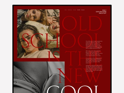 Old School is The New Cool - Landing Page