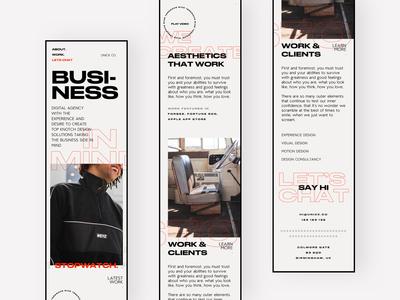 Unick Co - Homepage Mobile