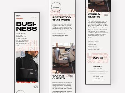 Unick Co - Homepage Mobile responsive mobile homepage landing page design grid typography web website ui ux agency studio portfolio marketing landing