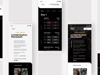 Fitness Tracking App UI