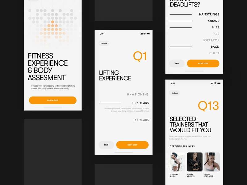 Fitness Tracking App UI - Onboarding