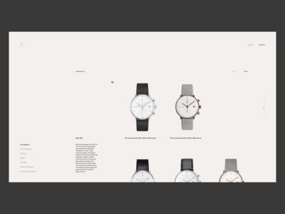 Watch Ecommerce Site - Collections