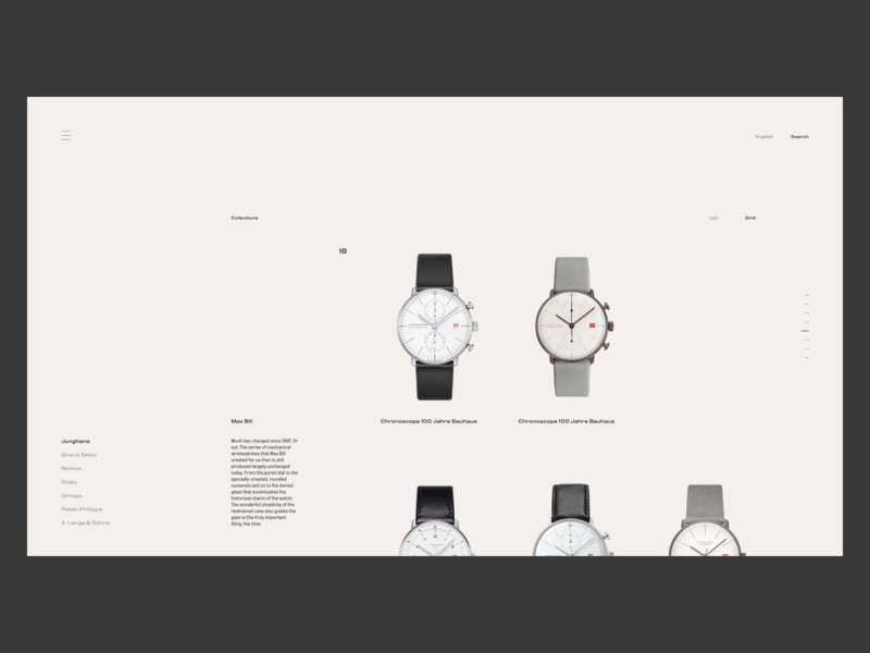 Watch Ecommerce Site - Collections marketing landing ux ui shopify shop product listing page listing page minimal web ecommerce design watch landing page watch ui watch ecommerce app ecommerce