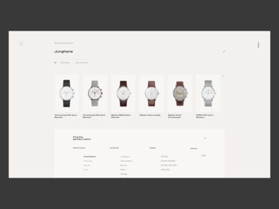 Watch Ecommerce Site - Browse & Search