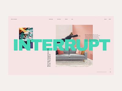 2020 Digital Playground #2 / Landing page interface responsive typography design product web design website marketing landing ux ui