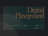 2020 Digital Playground #3 / Landing page