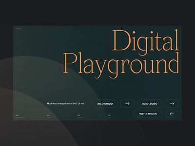 2020 Digital Playground #3 / Landing page simple interaction interface product design web design website marketing responsive landing ux ui typography type