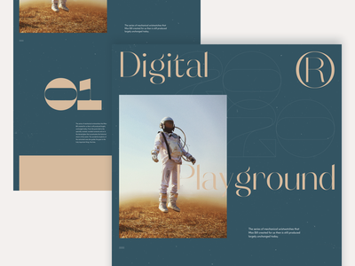2020 Digital Playground #4 / Landing page type planet web design company interaction minimal landing branding design website ux ui typogaphy web design spaced nasa webdesign marketing