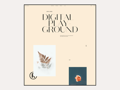 2020 Digital Playground #6 / Landing page web design agency simple typography responsive design minimal marketing landing ux ui ecommerce website web design