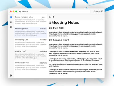 Cloud Rapidity - A note taking app