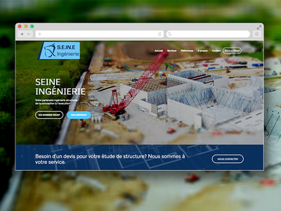 Landing Page for Civil Engineering Consultancy branding design ui construction realestate engineering consultancy landingpage webdesign website