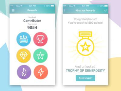 Gamification mechanism - Mobile App Design flatdesign icons social app reactjs profile design gamify gamification mobile app mobile ui app design ui