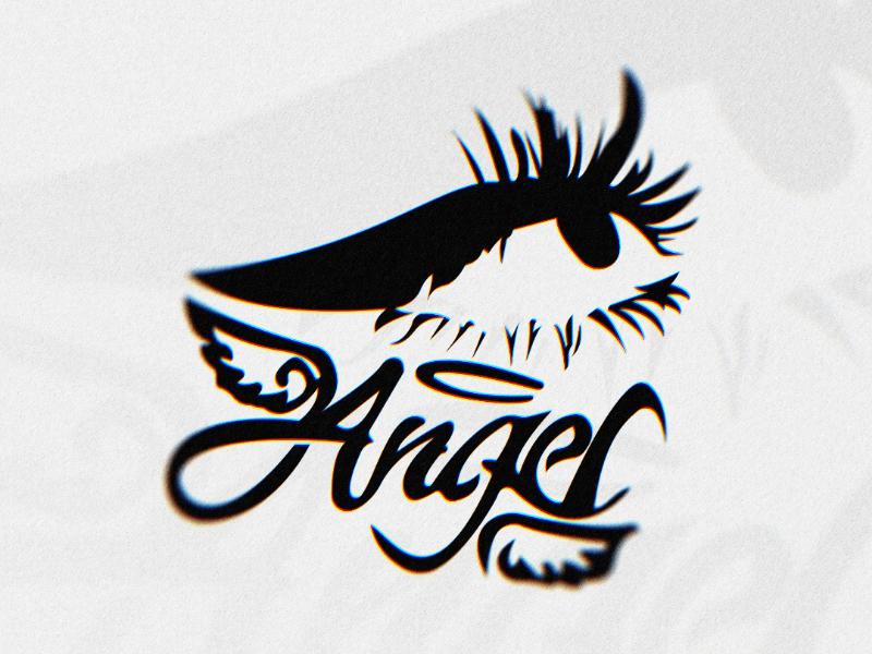 Angel's eye. vector typography logo designer illustration identity icon graphic designs design dailylogochallange challenge logo branding