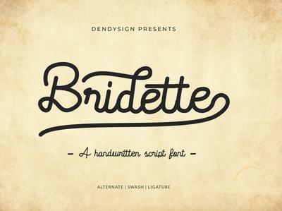 Bridette - Handwritten Script Font
