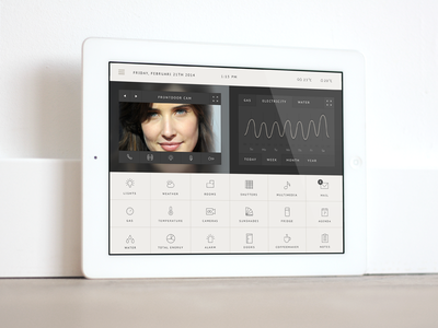 Concept Homesystem app internet of things concept app ipad mail shutters multimedia