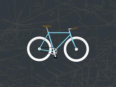 Azure bike fixie illustration wallpaper freebie free download