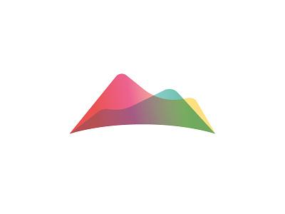Monte m moutains icon mark logo