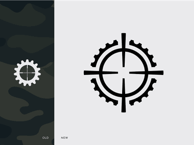 Logo Redesign mdttac mdt gun sight technologies modular visor precision white black icon brand redesign mark logo
