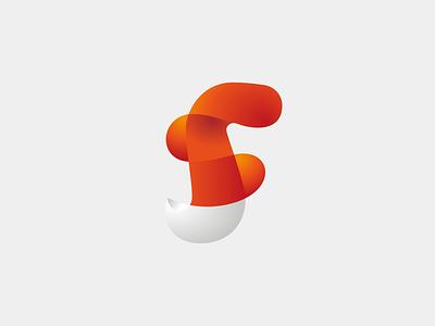 SF gradients tail fox f s icon mark logo