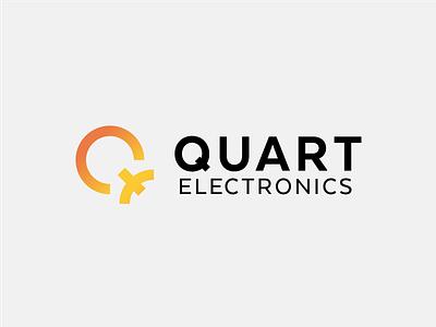 Quart Electronics e q quart onoff gradiant icon mark logo