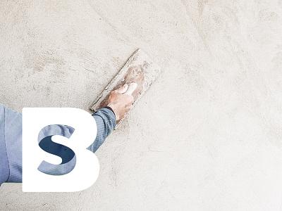 Stukadoorsbedrijf Breedveld inversed mark logodesign logo