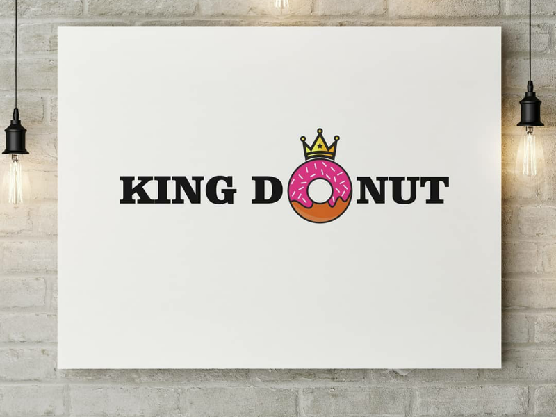 King Donut logo brand graphic