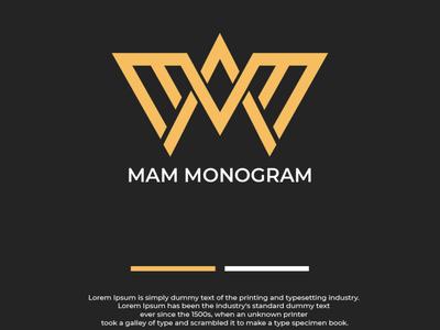 MAM Monogram idea logo design branding logos logo logotype designgraphic designer logo design logoinspiration logodesign branding