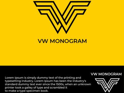 VW Monogram idea logo design branding logo logotype designgraphic designer designer logo design logoinspiration logodesign branding