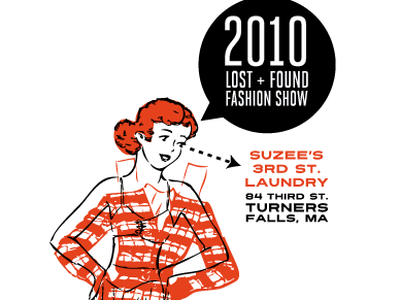 Screenprint for Lost + Found Fashion Show 2010 lost  found fashion show suzees third street laundry