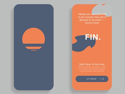FIN| Habit Tracking App bold modern branding habit tracker ios ui mobile app design