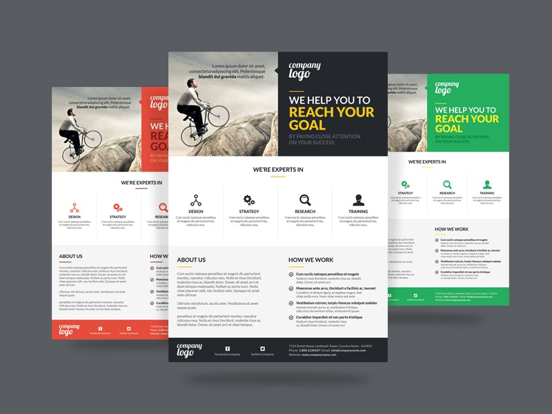 corporate flyer by webduckdesign