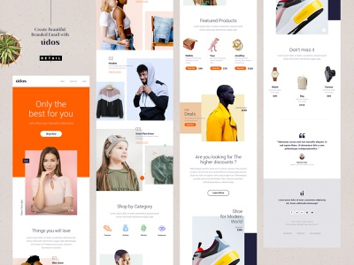 Udos - Multipurpose E-Newsletter Email Templates Retail newsletter retail multipurpose email modern marketing mailchimp email template email responsive email newsletter email marketing email e-newsletter e-mail template drag and drop creative campaign b2b agency advertising