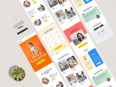 Education Email Template E-Newsletter ecommerce mobile email mobile ui ui ux graphic photoshop psd email template e-newsletter creative kids modern template email marketing email education website edu
