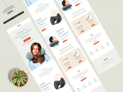 E-Newsletter Email Template modernism professional design clean neck neck pillow graphic template ui ux psd e-newsletter e-mail template email online retail ecommerce promotion product promotion email template productdesign