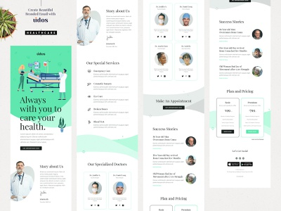Healthcare E-Newsletter Email Template email template graphic website web health ui ux corona hospital services health and wealth gmail outlook campaign marketing campaign email healthcare email healthy healthcare hospital